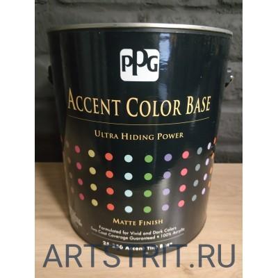 Краска  интерьерная для насыщенных оттенков Accent color base® 1-галон (3,78 л.)