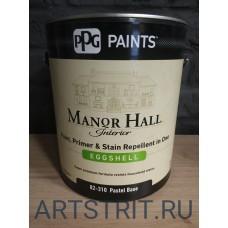 Краска  интерьерная премиальная Manor HaLL® EGGSHELL 1-галон (3,78 л.)