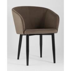 Кресло Ральф велюр коричневый